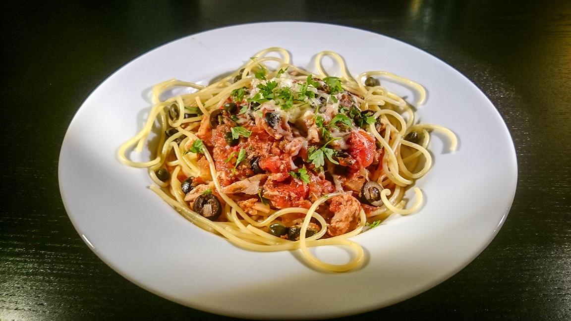 Scharfe Spaghetti Tono
