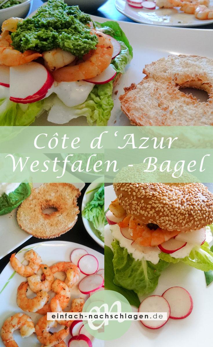 Côte d'Azur trifft auf Westfalen Bagel