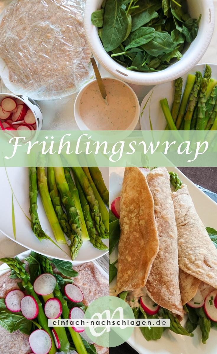 Rezeptcollage - Spargel Frühlingswrap mit Tonnato Sauce