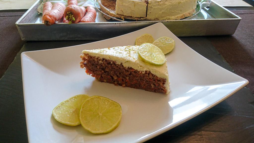 Möhrenkuchen mit Limetten-Frosting - Titelbild
