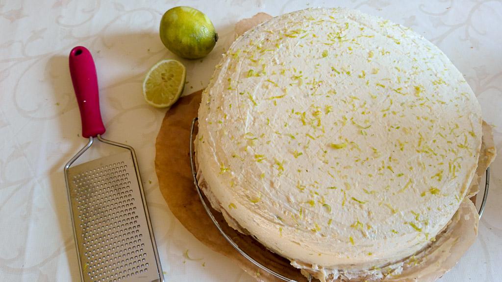 Möhrenkuchen mit Limetten-Frosting - Ansicht Limetten-Frosting