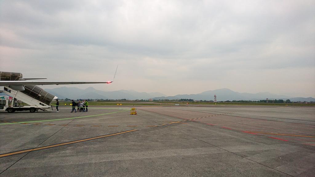 Abreise Mailand Bergamo - Rollfeld