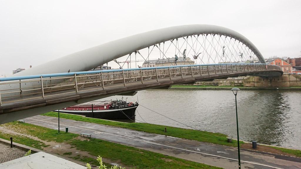 Brücke Kładka Ojca Bernatka Krakau