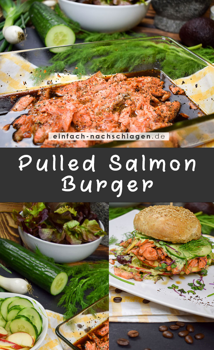 Rezept - Pulled Salmon Burger