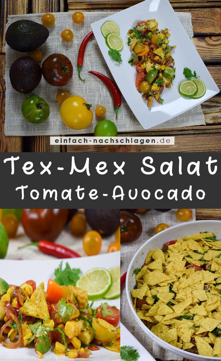 Rezept: Tex-Mex Salat Tomate-Avocado