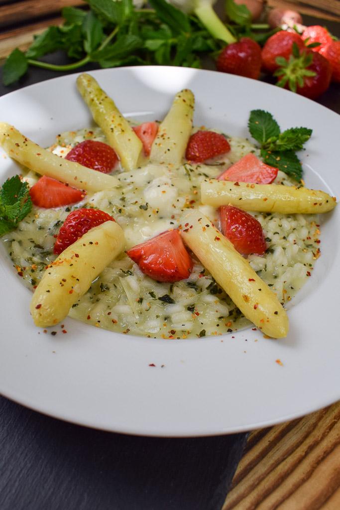 Rezept: Risotto - Spargel meets Erdbeere