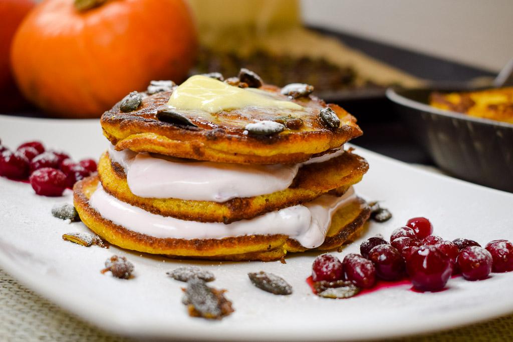 Rezept Kürbispancakes mit Quarkcreme