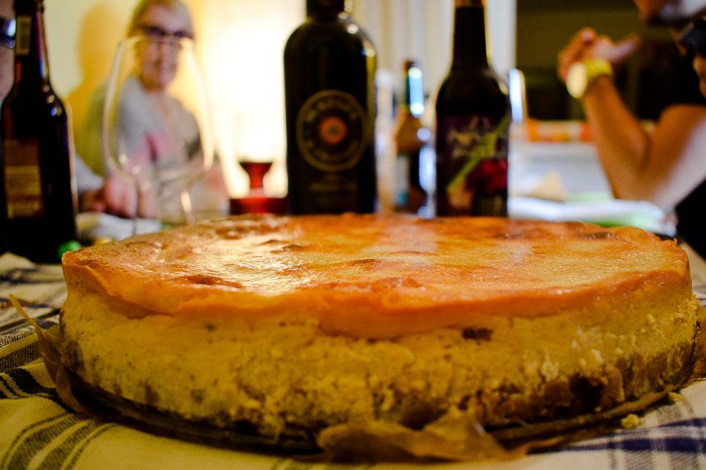 Cheesecake mit Birne und Amaretto Salted Caramel