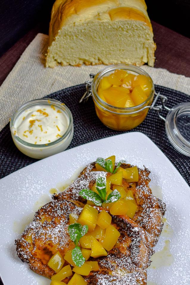 Saftiges Frenchtoast mit Mango