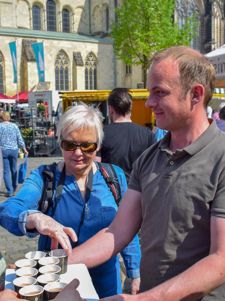 Wochenmarkt am Dom - Münster_Kulinarische Rundreise Münsterland