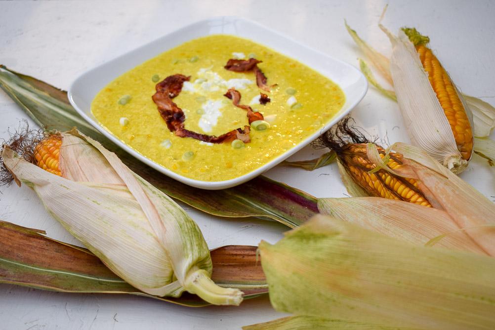 Amerikanische Maissuppe aus frischem Zuckermais